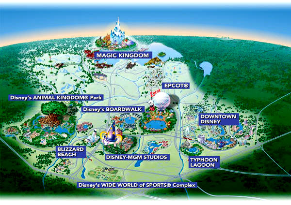 Maps of Disney World area hotels and resorts