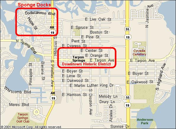 Tarpon Springs Florida Map.Tarpon Springs Florida Home Page