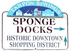 Tarpon Springs historic district banner