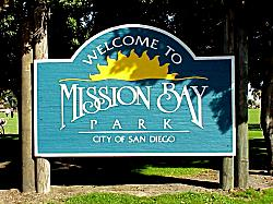 Welcome to Mission Bay sign - San Diego, California