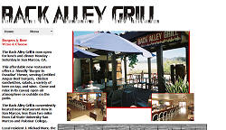 Back Alley Grill, San Marcos Calif.