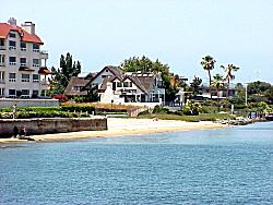 Coronado homes on San Diego Bay