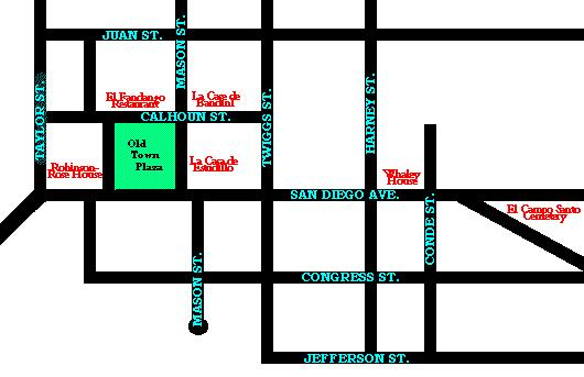 Map Of Old Town San Diego Ghosts